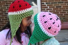 watermelon hat pattern #crochet