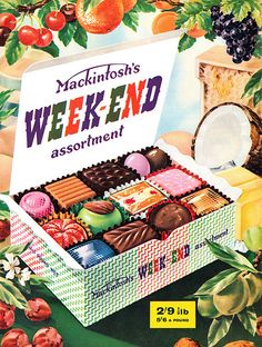 1960s sweeties...for some reason the least favourite of all boxes of chocolates...they look delish.