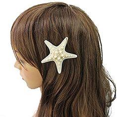 ZWZCYZ Girls Ladies Women Stylish Real Natural Starfish Star Hairpin Hair Clip Beach Accessories 1.57''-2.76'' Beige