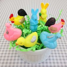 10 Vintage Easter Cupcake Toppers by CrankyCakesShop on Etsy