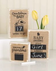 Wooden plaque with chalkboard countdown. Expecting mom or grandma gifts. Choose from: Countdown & baby. ____ weeks to go. Personalized Gifts For Grandparents, Grandparents Day Gifts, Grandma Gifts, Baby Shower Gifts, Baby Gifts, Baby Countdown, Baby Picture Frames, Mud Pie Baby, Wooden Plaques