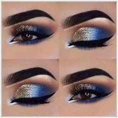 Eye Makeup Tips – How To Apply Eyeliner – Makeup Design Ideas Cute Eye Makeup, Gold Eye Makeup, Creative Eye Makeup, Makeup Eye Looks, Beautiful Eye Makeup, Smokey Eye Makeup, Eyeshadow Makeup, Eyeshadows, Stunning Eyes