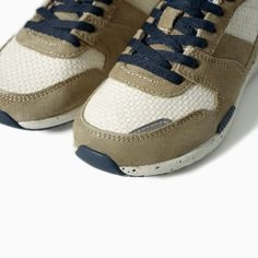 Image 5 of COMBINED LEATHER JOGGING SNEAKER from Zara