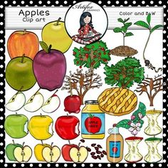 *50% off for the first 48 hours*Apples clip art set features 48 items: 28…