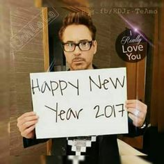 RDJ - best new year wishes😍 Happy New Year Everyone, Are You Happy, Spicy Spice, Anthony Mackie, I Robert, New Year Wishes, Downey Junior, Handsome Actors, Favorite Words