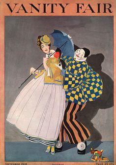 Rabajoi : Cover art for Vanity Fair, September 1914 Vanity Fair Magazine, Magazine Art, Magazine Covers, Vintage Vogue Covers, Art Deco Vanity, Inspiration Art, Vintage Art Prints, Vintage Posters, Thing 1