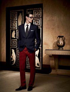 Like the bold pants.