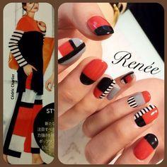 Gorgeous Nails, Love Nails, Pretty Nails, Japanese Nail Design, Japanese Nails, Nail Polish Designs, Nail Art Designs, Music Nails, Sea Nails