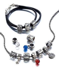 Kalevala Koru | My SAAGA, rannekoru ja kaulakoru heloilla (bracelet and necklace charms)