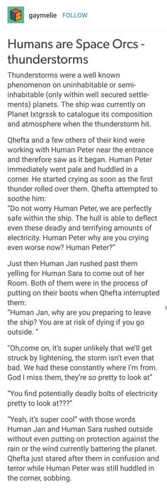Humans are Weird: Thunderstorms