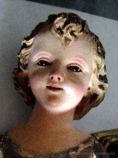 Precioso niño Jesús capipota  del XVIII /XIX (Arte - Arte Religioso - Escultura)