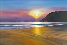 'Sunset' by British acrylic artist Diane Holmes.