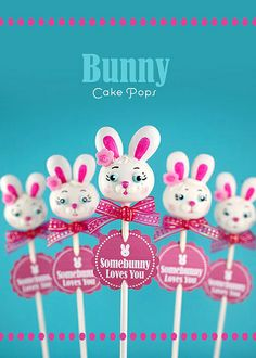 Bunny Cake Pops by Bakerella, via Flickr Easter Cake Pops, Easter Bunny Cake, Easter Treats, Cute Cakes, Yummy Cakes, Cake Pop Decorating, Decorating Ideas, Easter Dishes, Easter Food