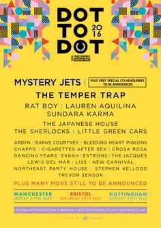 Dot to Dot 2016 First line up announcement for leading inner-city festival