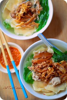 AhTeeKitchen: 麵粉糕 HomeMade Mee-Hoon-Kueh Lunch Recipes, Cooking Recipes, Yummy Recipes, Noddle Recipes, Malaysian Food, Malaysian Recipes, Asian Street Food, Cook N, Asian Soup