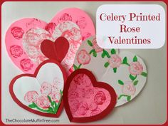 The Chocolate Muffin Tree: Celery Printed Rose Valentines
