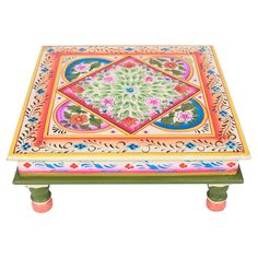 bajat low accent table ii love this intricate bohemian gypsy indian style painting on bohemian furniture