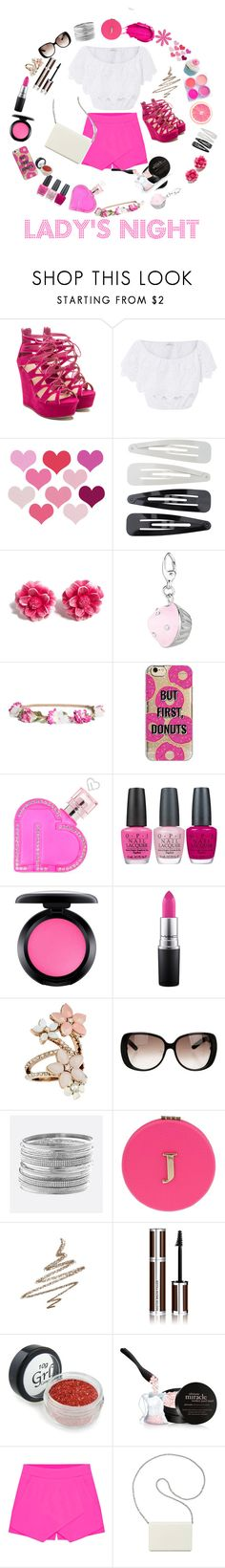 """Lady's pink night"" by nejla-zejnilovic ❤ liked on Polyvore featuring Miguelina, Revlon, Forever 21, Tarina Tarantino, H&M, Agent 18, Aéropostale, OPI, MAC Cosmetics and Accessorize"