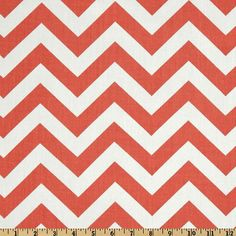Fabric by the Yard Premier Prints Zigzag Coral by MyFabricStudio,