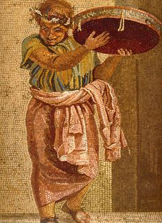 Musician with tympanon,detail of a Roman mosaic, Villa del Cicerone, Pompeii by Asoka: Buddhism from Asia to Scandinavia Pompeii Ruins, Pompeii Italy, Pompeii And Herculaneum, Ancient Rome, Ancient Art, Ancient Greek, Roman History, Art History, Art Romain