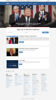 Look through the development of The White House website on a timeline in