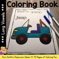 Long U Words, Math Centers, Writing Centers, Parent Volunteers, Classroom Management Tips, Second Grade Teacher, Color Crayons, Long Vowels, Book Names