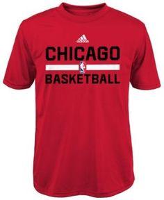 adidas Boys' Chicago Bulls Practice Wear Graphic T-Shirt - Red XL
