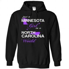 (MNJustTim002) Just A Minnesota Girl In A North_Carolin - #sorority tshirt #tumblr hoodie. CHECK PRICE => https://www.sunfrog.com/Valentines/-28MNJustTim002-29-Just-A-Minnesota-Girl-In-A-North-5FCarolina-World-Black-Hoodie.html?68278