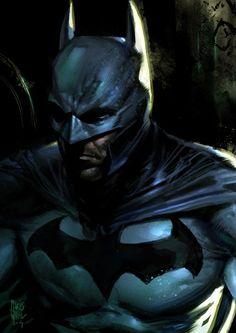 Dark moody Batman art by Chris Wahl Comic Book Characters, Comic Character, Comic Books Art, Comic Art, Batman Art, Batman And Superman, Batman Robin, Batman Logo, Bob Kane