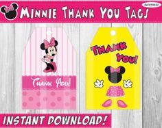 50% de descuento toppers cupcake de Minnie por PartiesandParties