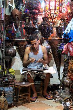 Marrakech, at the Bazaar