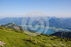 #View To #Lake #Wolfgangsee From #Schafbergspitze 1.783m In #Salzkamergut @dreamstime #dreamstime @Salzkammergut @iSalzkammergut #travel #summer #beach #holidays #vacation #austria #landsacpe #nature #outdoor #bluesky #hiking #view #beautiful #mountains #stock #photo #portfolio #download #hires #royaltyfree