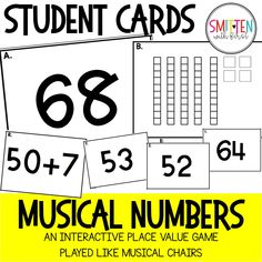 Place Value and Number Sense Math Game Prek Kindergarten 1st grade