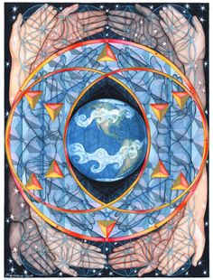 Exquisite images of nature and spirit layered with sacred geometry create visions of a multidimensional reality of healing and transformation. By Visionary artist, Francene Hart. Art Fractal, Fractals, Art Visionnaire, Spiritual Paintings, Religion, Visionary Art, Nature Images, Flower Of Life, Sacred Geometry