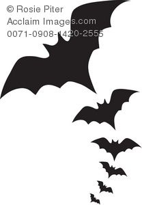 vampire bats clipart image scary bats flying through the sky on rh pinterest com  halloween bat clipart black and white
