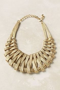 in love with this metallic statement necklace - anthro $29.95