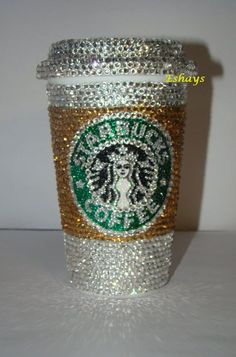 Personalized Cup- Custom Starbucks Bling Rhinestone Cup with Lid 16oz