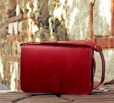 Shoulder bag Νο 3 ACCANTO Red .... the most vibrational & exciting color of the spectrum !! Expresses excitement, speed, strength, joy, danger and passion !!