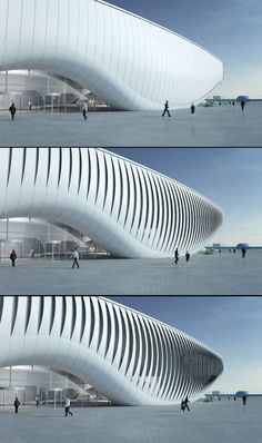 The ocean in Yeosu, South Korea by SOMA with kinetic lamella