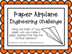 Paper Airplane: Engineering Challenge Project