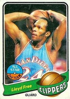 1979 Topps Basketball Cards | Lloyd Free Basketball Card (Los Angeles Clippers) 1979 Topps #40