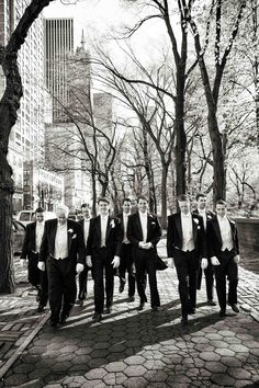 The groom and his groomsmen wore formal white tie attire and tails for the elega… The groom and his groomsmen wore formal white tie attire and tails for the elegant New York City ceremony. Photography: Michael Falco for Christian… Continue Reading → White Tie Wedding, Formal Wedding, Dream Wedding, Old World, Groomsmen, New York City, Christian, Photography, Manhattan