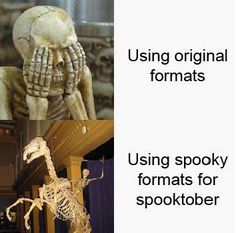 Happy Spooktober Spooktober Memes, Dead Memes, Spooky Memes, Spooky Scary, All The Things Meme, Tumblr Stuff, How To Make Shorts, Funny Me, Comedy
