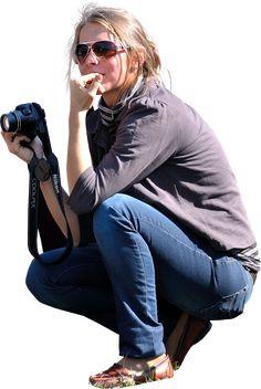 Womankneelingphotographerbitingnails People Cutout, Cut Out People, People Png, Tree People, Photoshop Rendering, Photoshop Elements, People Sitting Png, Autocad, Silhouette