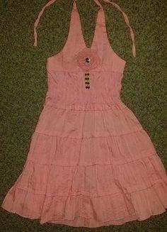 Kaufe meinen Artikel bei #Mamikreisel http://www.mamikreisel.de/kleidung-fur-madchen/kurze-kleider/35975979-kleid-neckholder-rosa-lanzarote-110
