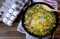 I think I could go through life solely subsiding on eggs. This weekend alone, I consumed a few too many: hard boiled on salads, fried or scrambled for breakfast, and egg whites as a binder for a fe...