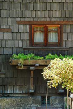 Gamble House - window planter by heinrick05, via Flickr
