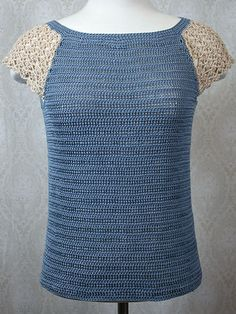 Raglan Lace Tee - free crochet pattern with a free sign-up to Knit and Crochet Now! TV