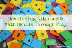 crayonfreckles: developing literacy and math skills through play #preschool #ECED #learning
