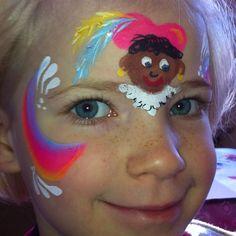 Regenboog pietje Henna Paint, Diy And Crafts, Crafts For Kids, Saint Nicolas, Body Art, Simple Face, Face Paintings, Inspiration, Google